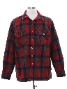 Mens Lined Wool Blend CPO Flannel Shirt Jacket