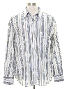 Mens Subtle Print Disco Style Shirt