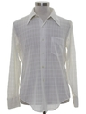 Mens Subtle Textured Print Disco Shirt