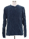 Mens Henley Style Sweater