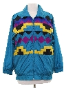 Womens Totally 80s Hip Hop Style Windbreaker Jacket