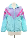 Womens Totally 80s Windbreaker Style Track Jacket