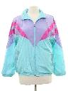 Womens Totally 80s Windbreaker Style Track Jacket