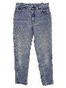 Womens Grunge Highwaisted Denim Mom Jeans Pants