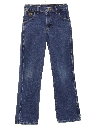 Unisex Girls or Boys Western Style Straight Leg Denim Jeans Pants