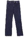 Unisex Ladies or Boys Western Style Straight Leg Denim Jeans Pants