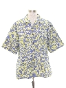 Mens Totally 80s Style Reverse Print Hawaiian Shirt