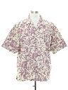 Mens Totally 80s Style Reverse Print Hawaiian Shirt