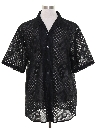 Mens Wicked 90s Club or Rave Style Lace Shirt