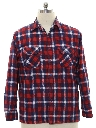 Mens Grunge Flannel Shirt Jacket
