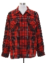 Mens Lumberjack Plaid Wool Flannel Board Shirt