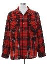 Mens Wool Flannel Board Shirt