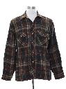 Mens Wool Blend Flannel Shirt