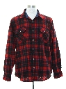 Mens Lumberjack Plaid Wool Flannel Shirt