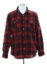 Mens Lumberjack Plaid Wool Flannel Shirt