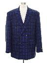 Mens Wicked 90s Double Breasted Blazer Sport Coat Jacket