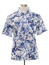 Mens Designer Print Resort Wear Style Disco Shirt