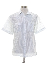 Mens Print Sheer Sport Shirt