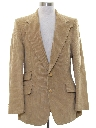 Mens Corduroy Disco Style Blazer Sportcoat Jacket