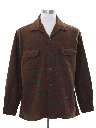 Mens Mod Wool Plaid Board Style Sport Shirt