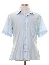 Mens Shiny Nylon Solid Disco Shirt