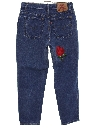 Womens High Waisted Slightly Tapered Leg Denim Jeans Pants