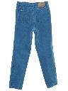 Womens Totally 80s Designer High Waisted Tapered Leg Denim Jeans Pants