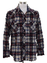 Mens Wool Blend Flannel Lumberjack Plaid Western Shirt
