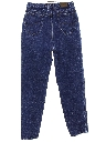 Womens High Waisted Tapered Leg Denim Jeans Pants