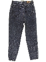 Womens Highwaisted Slightly Tapered Leg Totally 80s Denim Jeans Pants