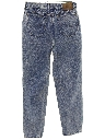 Womens Highwaisted Totally 80s Acid Wash Denim Jeans Pants