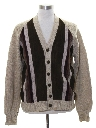 Mens Leather Cardigan Sweater Jacket