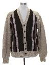 Mens Leather Cardigan Sweater Jacket