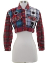 Womens Totally 80s Cropped Flannel Shirt Jacket