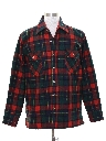 Mens Lumberjack Plaid CPO Style Shirt Jacket