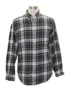 Mens Preppy Flannel Shirt