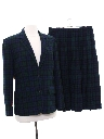 Womens Pendleton Wool Plaid Suit