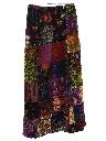 Womens Velveteen Hippie Skirt