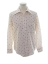 Mens Print Disco Style Knit Shirt