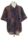Mens Totally 80s Style Graphic Print Sport Shirt