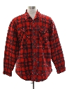 Mens Lined Jumberjack Plaid Flannel CPO Shirt Jacket