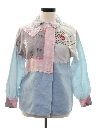 Womens One of a Kind Designer Grandma Style Shirt Jacket