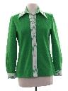 Womens Mod Knit Leisure Shirt Jacket