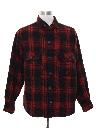 Mens Lumberjack Plaid Flannel Shirt