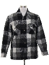 Mens Lumberjack Plaid Flannel CPO Shirt Jacket