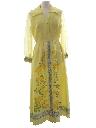 Womens Designer Hawaiian Maxi Dress