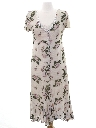 Womens Totally 80s Slight A-Line Maxi Dress