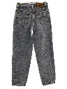Womens or Girls Totally 80s Acid Washed Denim Jeans Pants