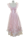 Womens Totally 80s Pretty in Pink Prom Or Cocktail Dress