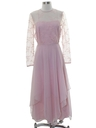 Womens Totally 80s Designer Prom Or Cocktail Maxi Dress